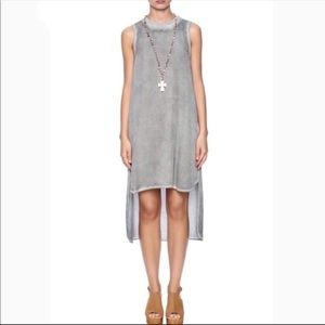 New Cloth & Stone Gray High Low Tank Dress Small